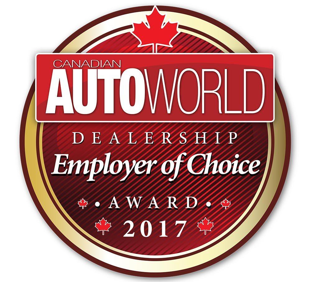 Canadian Autoworld Dealership Employer of Choice Award