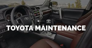 Toyota Maintenance Menu