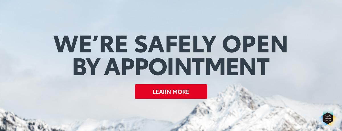 Toyota Dealership is open
