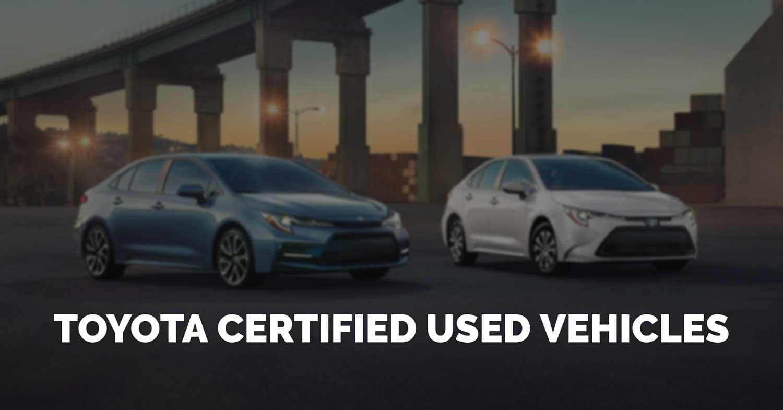 Toyota Certified Used Vehicle Program TCUV