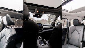 Toyota Highlander seating space