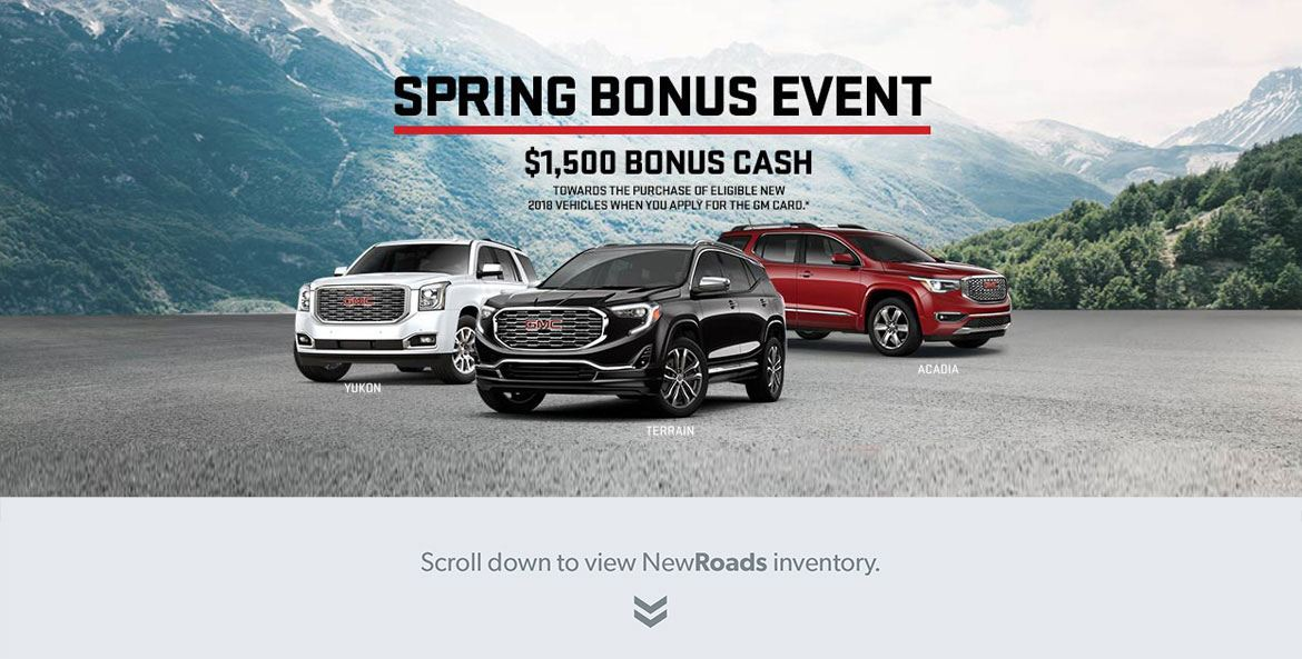 GMC Bonus Sales Specials in Newmarket_