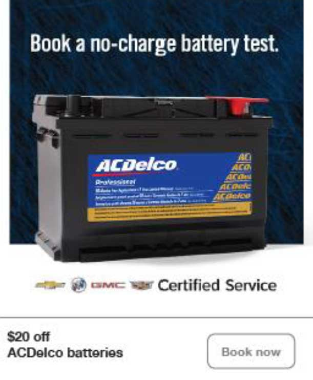 AC Delco Batteries Save $20