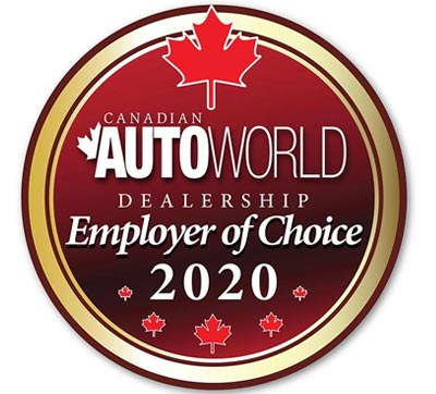 Canadian Autoworld Dealership Employer of Choice Award