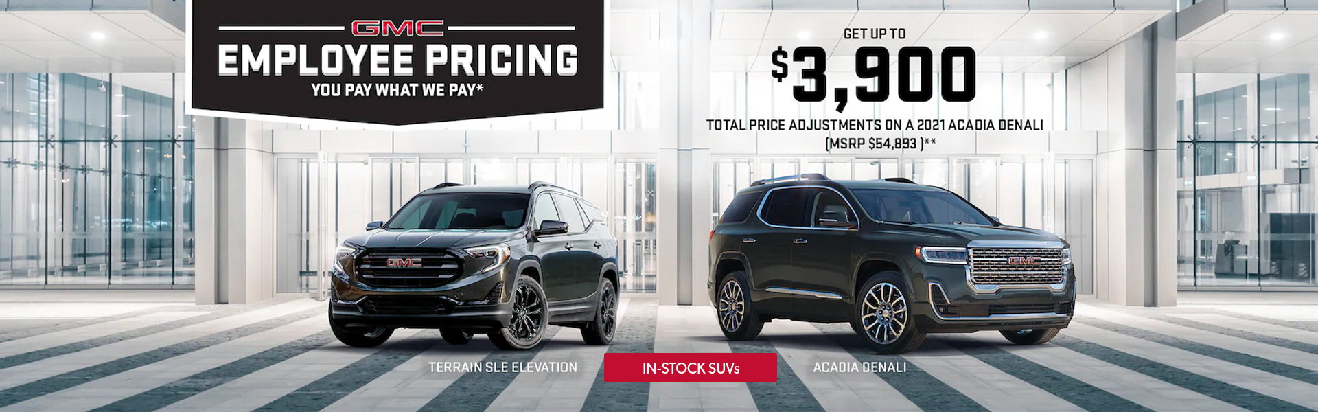 GMC Employee Pricing