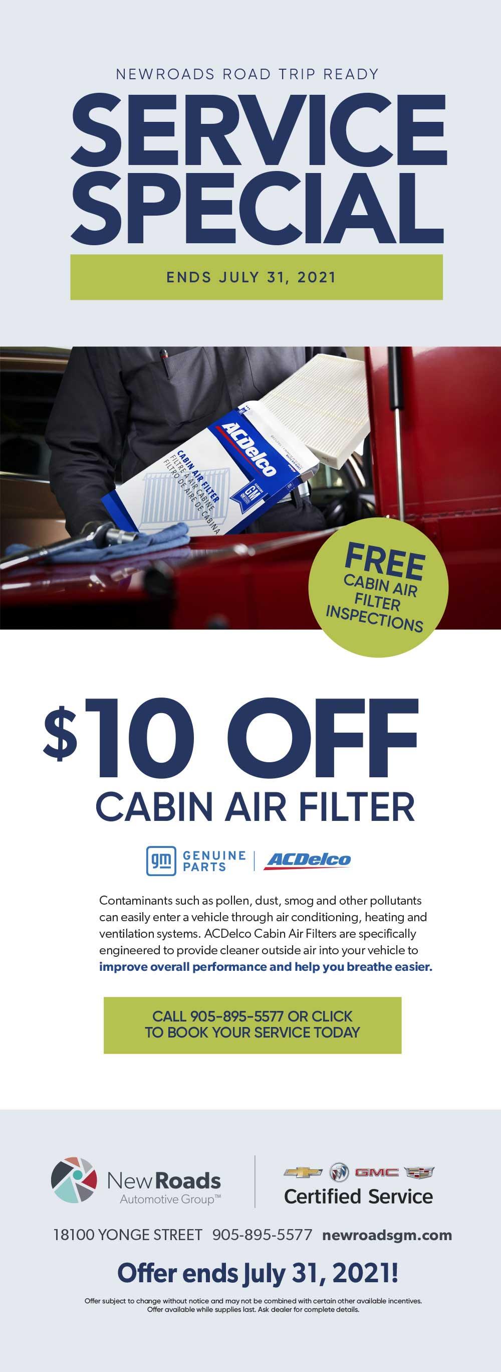 cabin filter special
