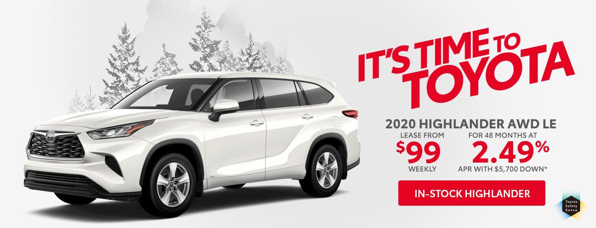 Toyota Highlander Sales Special