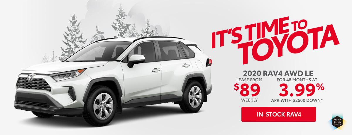 Toyota RAV4 Sales Special